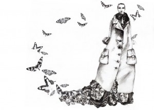 illustration collage papillon