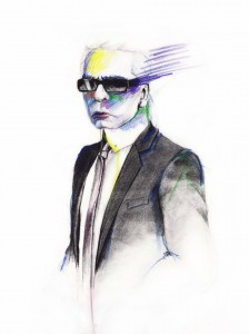 illustration Karl Lagerfeld