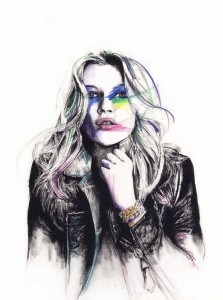 illustration Kate Moss