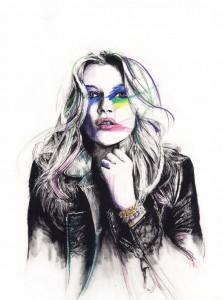 illustration Kate Moss