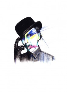 illustration Marilyn Manson