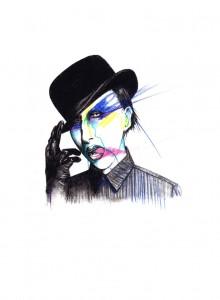 illustration Marilyn Manson
