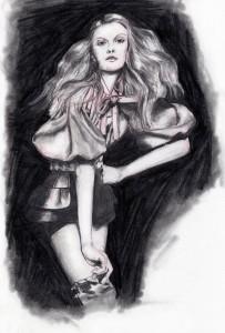illustration crayon noir et blanc