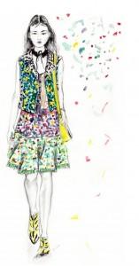 fashion illustration Coach