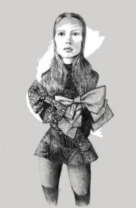 illustration crayon clair obscur