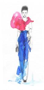 dessin défilé Marc Jacobs