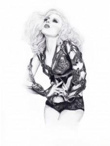 illustration Lady Gaga